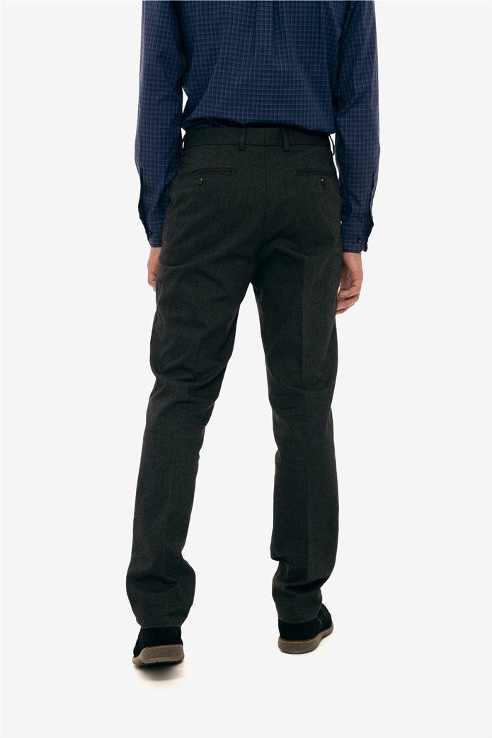 The Bostonians ανδρικό παντελόνι με ανάγλυφη υφή slim fit 4