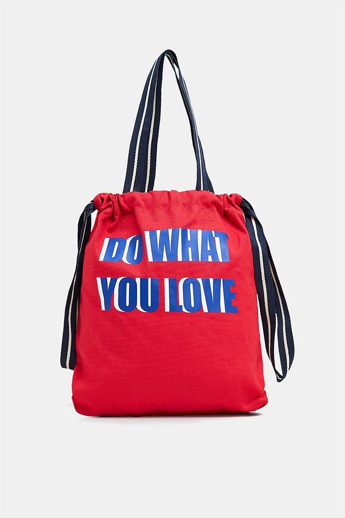 Esprit γυναικεία shopper τσάντα Canvas 0