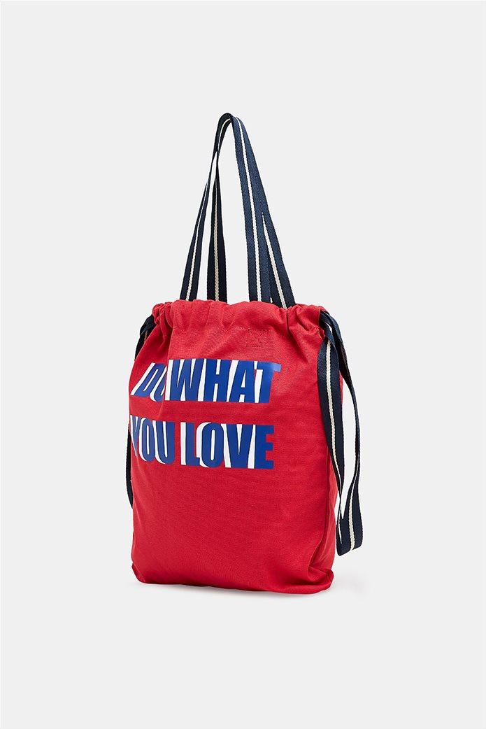 Esprit γυναικεία shopper τσάντα Canvas 2