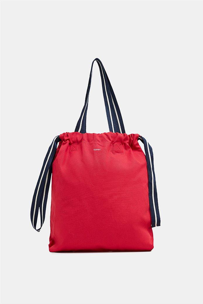 Esprit γυναικεία shopper τσάντα Canvas 5