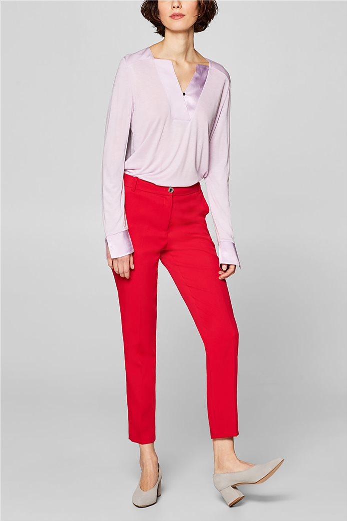 Esprit γυναικεία μπλούζα με σατέν λεπτομέρειες 4