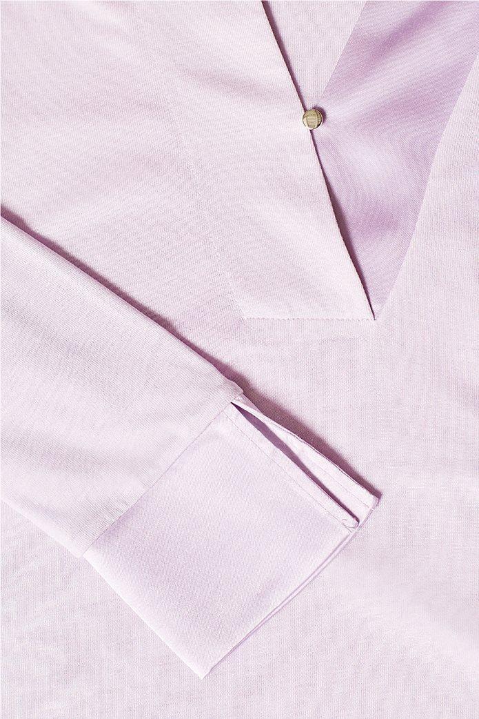 Esprit γυναικεία μπλούζα με σατέν λεπτομέρειες 5