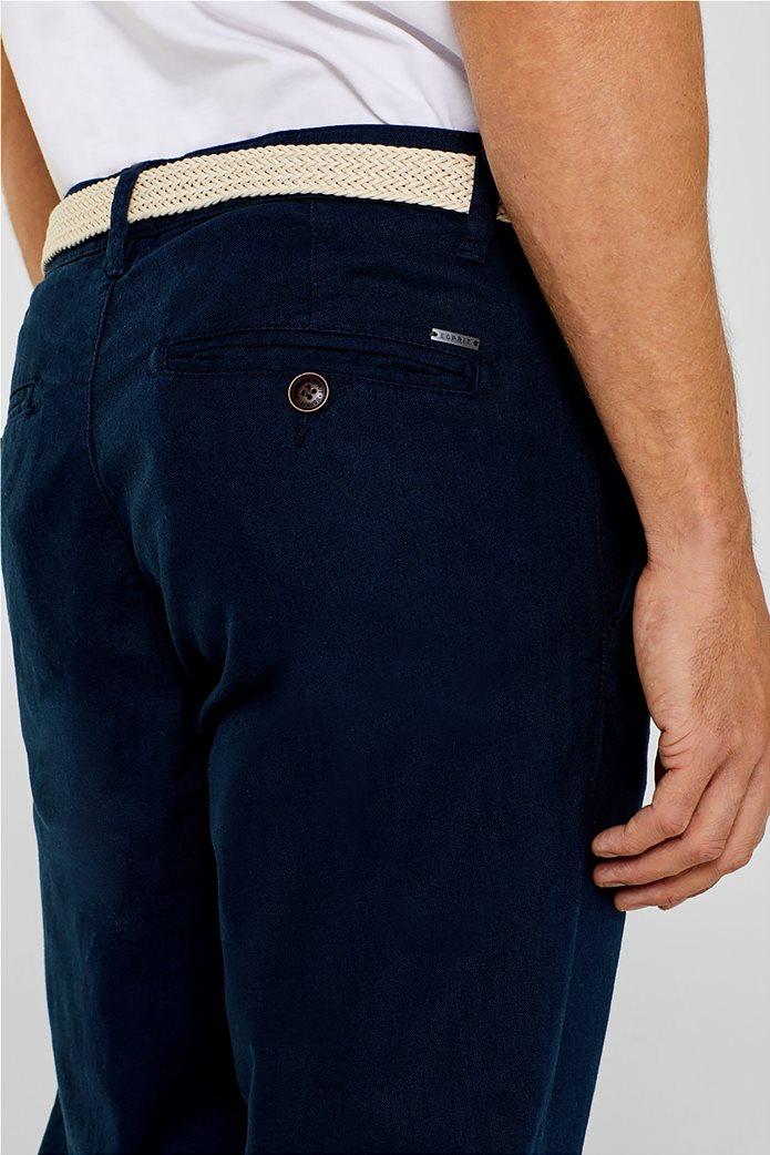 Εsprit ανδρικό λινό παντελόνι με ζώνη 2
