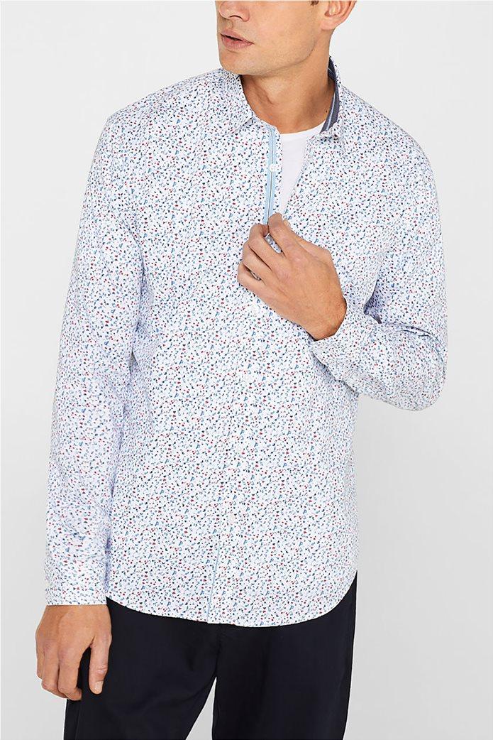 Esprit ανδρικό πουκάμισο με all over print 0