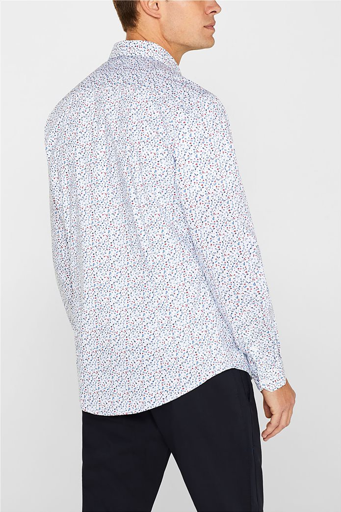 Esprit ανδρικό πουκάμισο με all over print 2