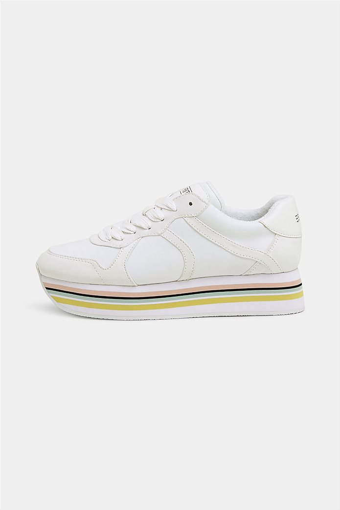 Esprit γυναικεία αθλητικά παπούτσια με ριγέ πλατφόρμα 0