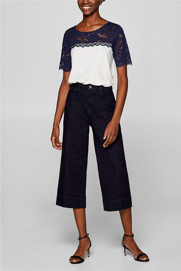 Esprit γυναικεία μπλούζα με δαντέλα 1