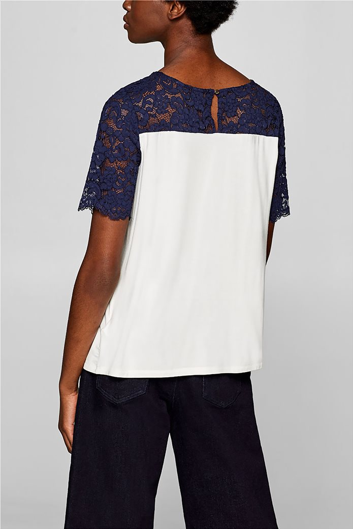 Esprit γυναικεία μπλούζα με δαντέλα 3