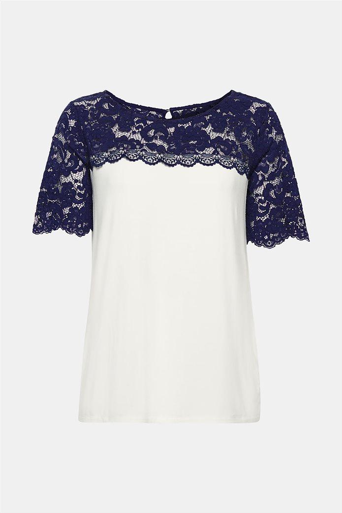 Esprit γυναικεία μπλούζα με δαντέλα 6