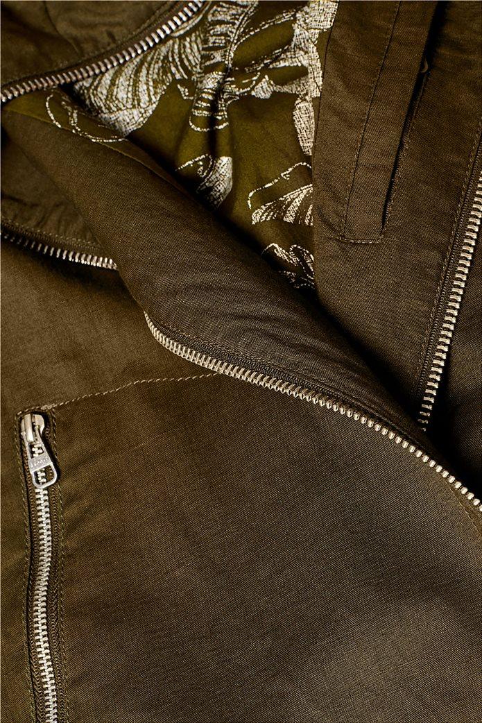 Esprit ανδρικό λινό μπουφάν με ψηλό γιακά 4