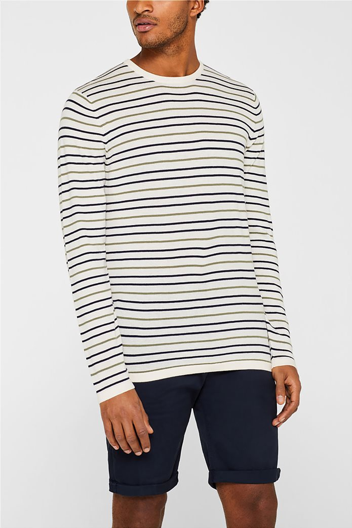 Esprit ανδρική πλεκτή μπλούζα με ρίγες 0