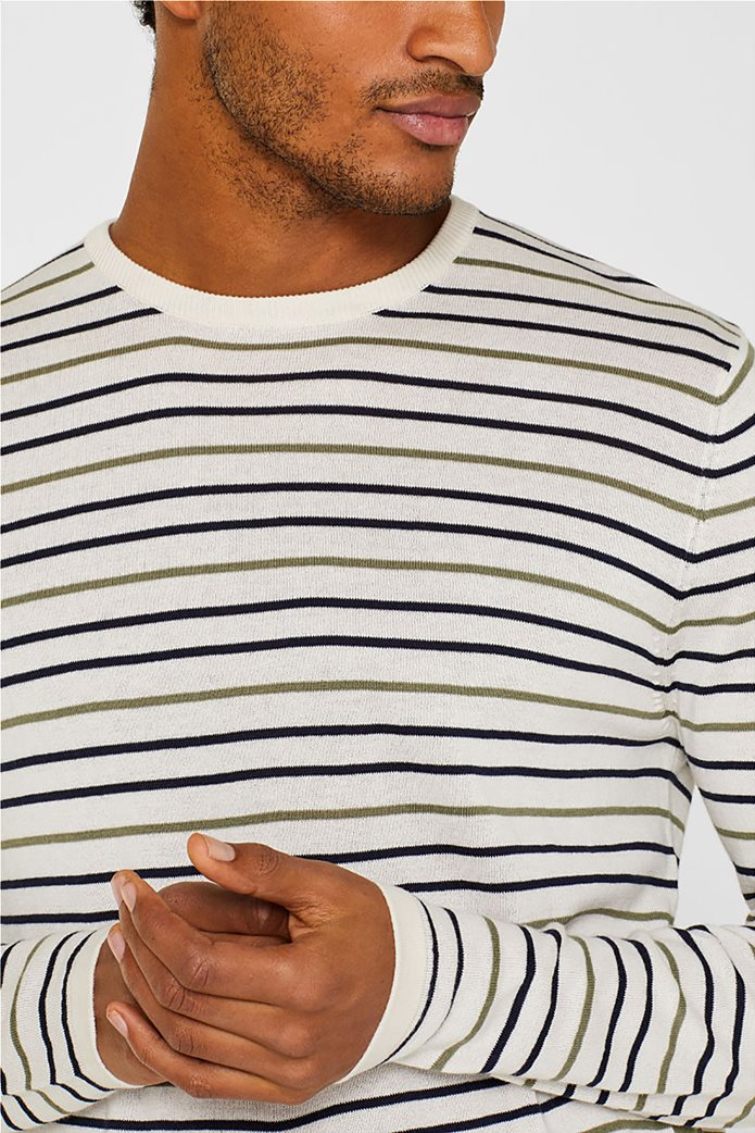Esprit ανδρική πλεκτή μπλούζα με ρίγες 1