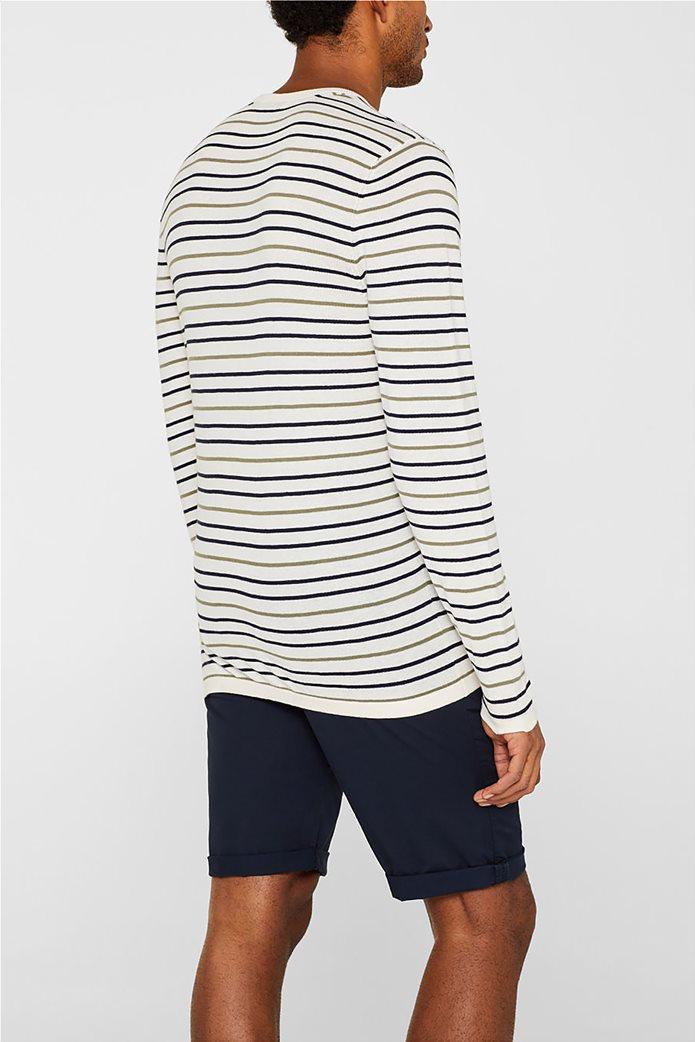 Esprit ανδρική πλεκτή μπλούζα με ρίγες 3