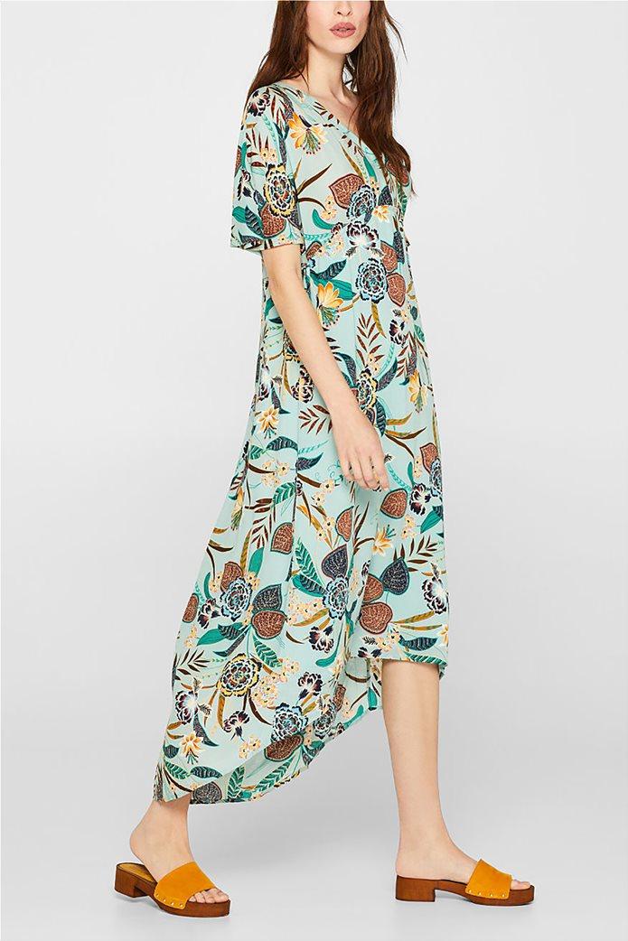 Esprit γυναικείο midi ασύμμετρο floral φόρεμα 0