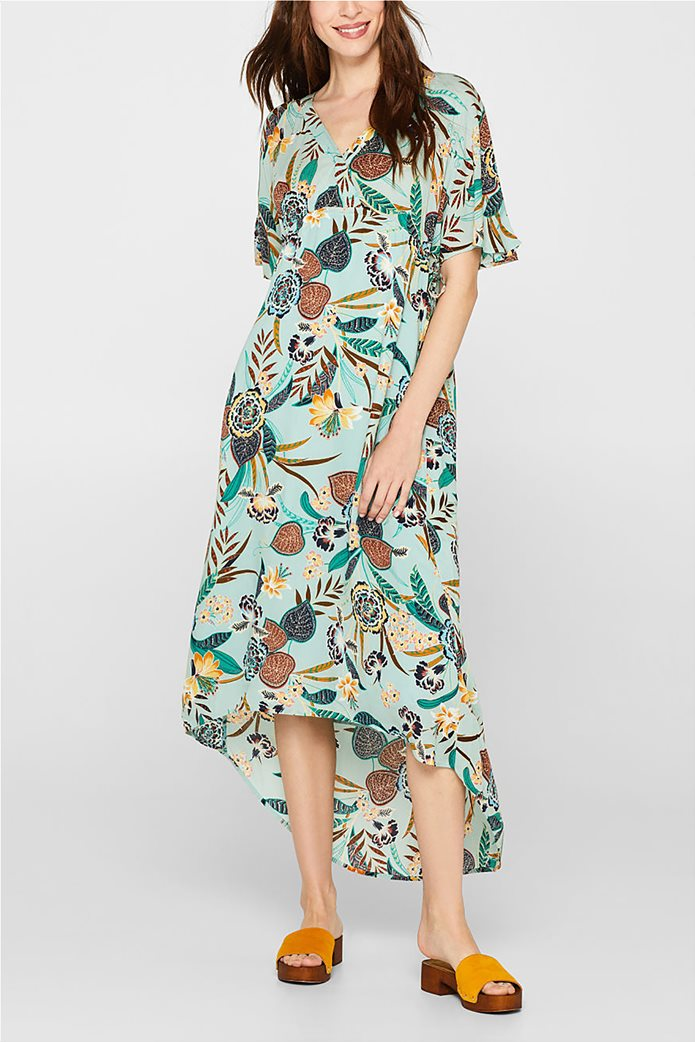 Esprit γυναικείο midi ασύμμετρο floral φόρεμα 2