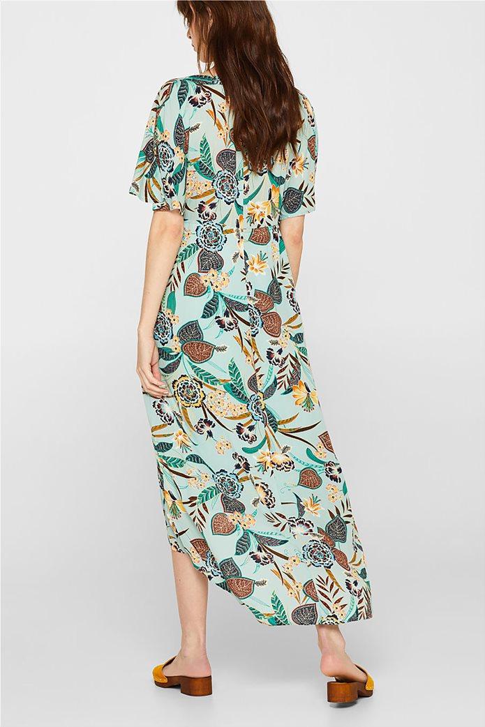 Esprit γυναικείο midi ασύμμετρο floral φόρεμα 3