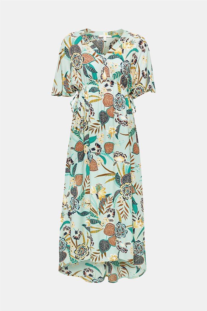 Esprit γυναικείο midi ασύμμετρο floral φόρεμα 4