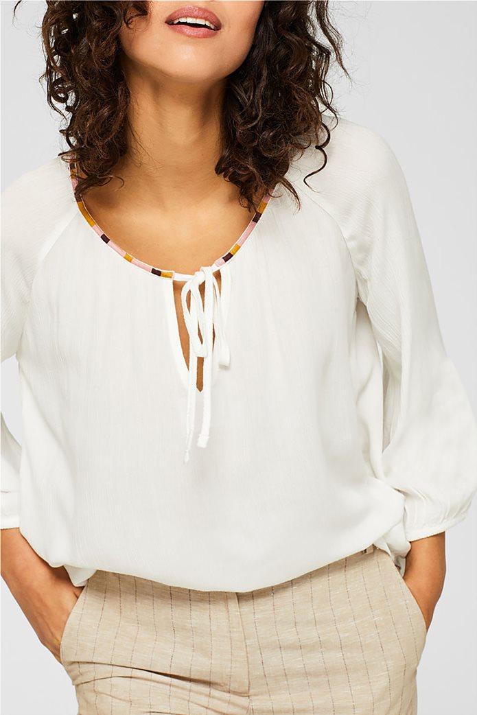 Esprit γυναικεία μπλούζα με balloon μανίκια 0