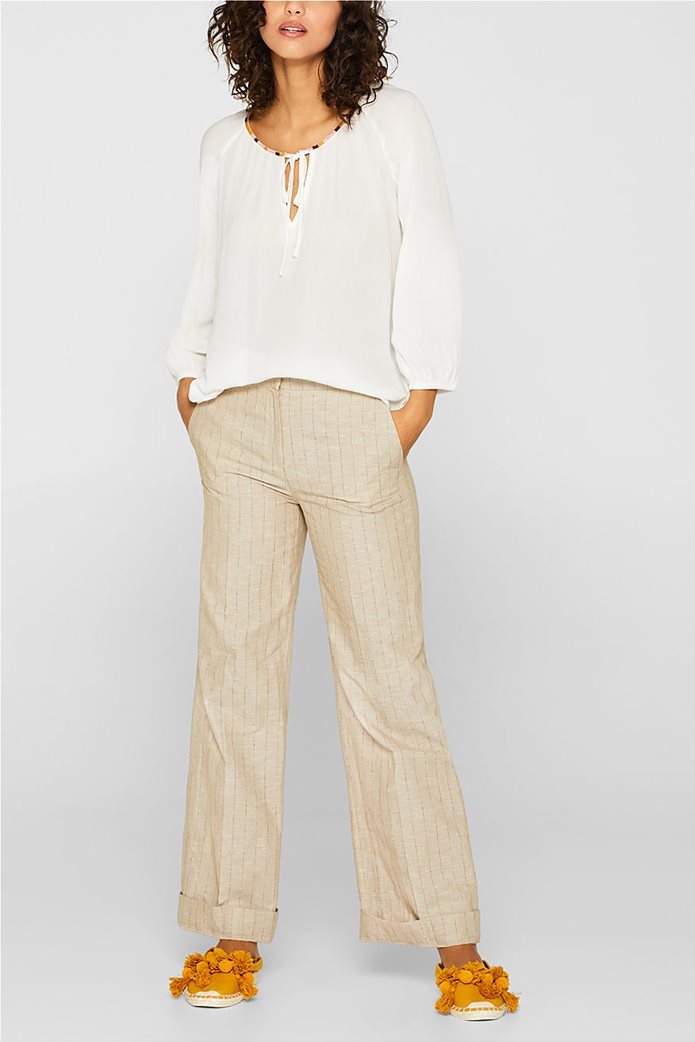 Esprit γυναικεία μπλούζα με balloon μανίκια 1