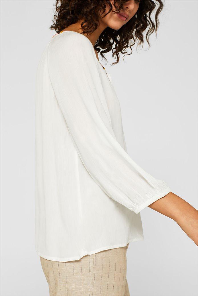 Esprit γυναικεία μπλούζα με balloon μανίκια 2