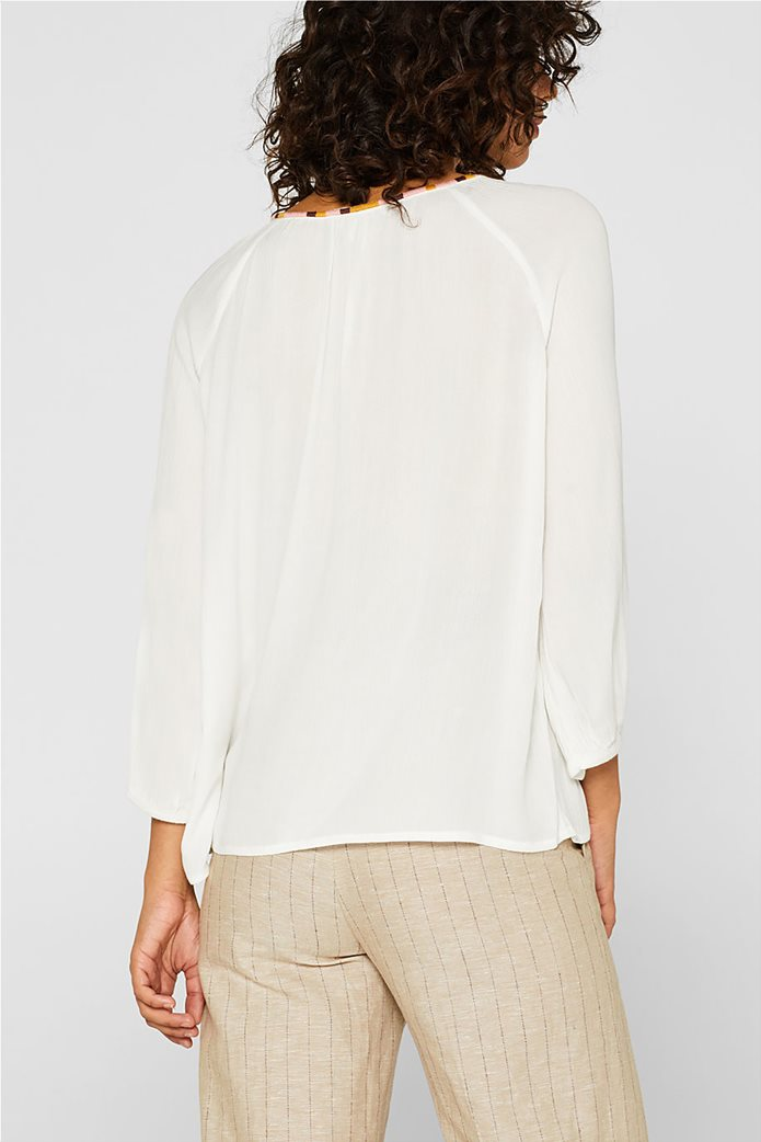 Esprit γυναικεία μπλούζα με balloon μανίκια 3