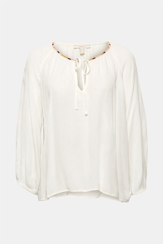 Esprit γυναικεία μπλούζα με balloon μανίκια 4