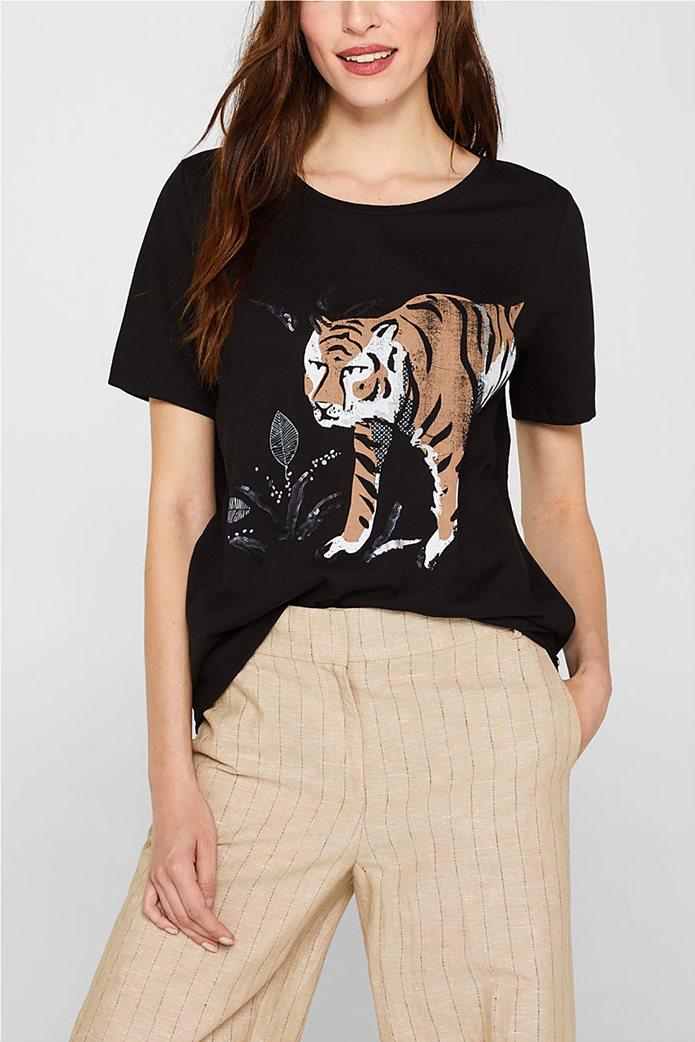 Esprit γυναικείο T-shirt με μεγάλο print 0