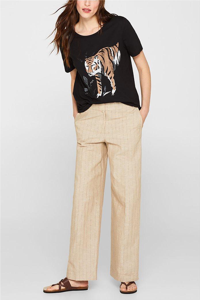 Esprit γυναικείο T-shirt με μεγάλο print 1