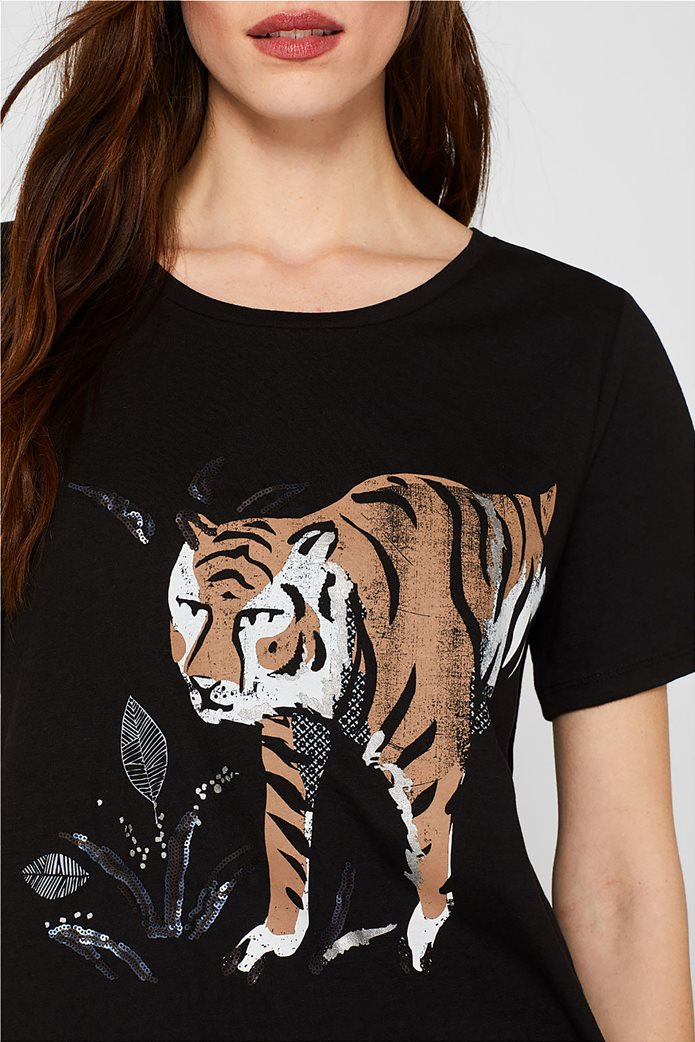 Esprit γυναικείο T-shirt με μεγάλο print 2