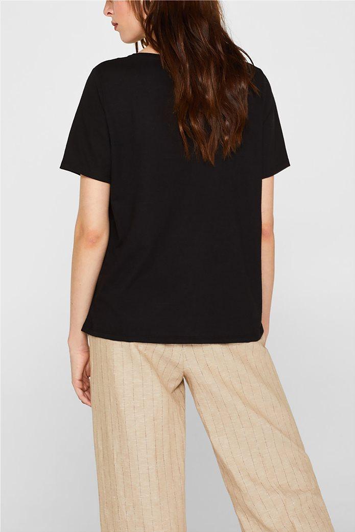 Esprit γυναικείο T-shirt με μεγάλο print 3