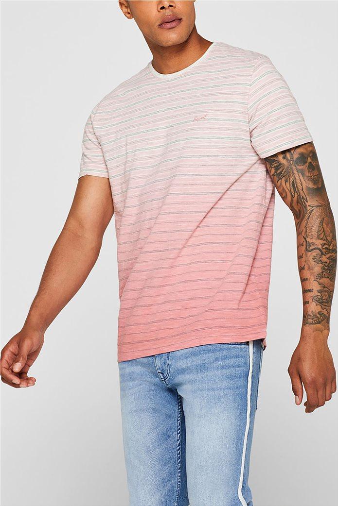 Esprit ανδρικό ριγέ ντεγκραντέ T-shirt 0