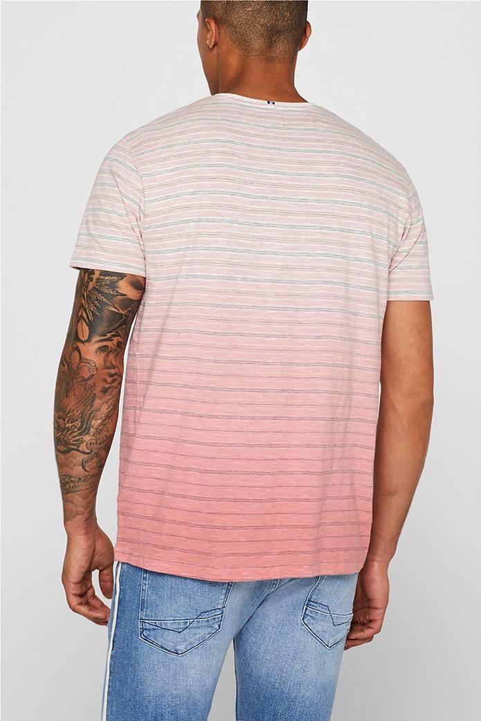 Esprit ανδρικό ριγέ ντεγκραντέ T-shirt 2