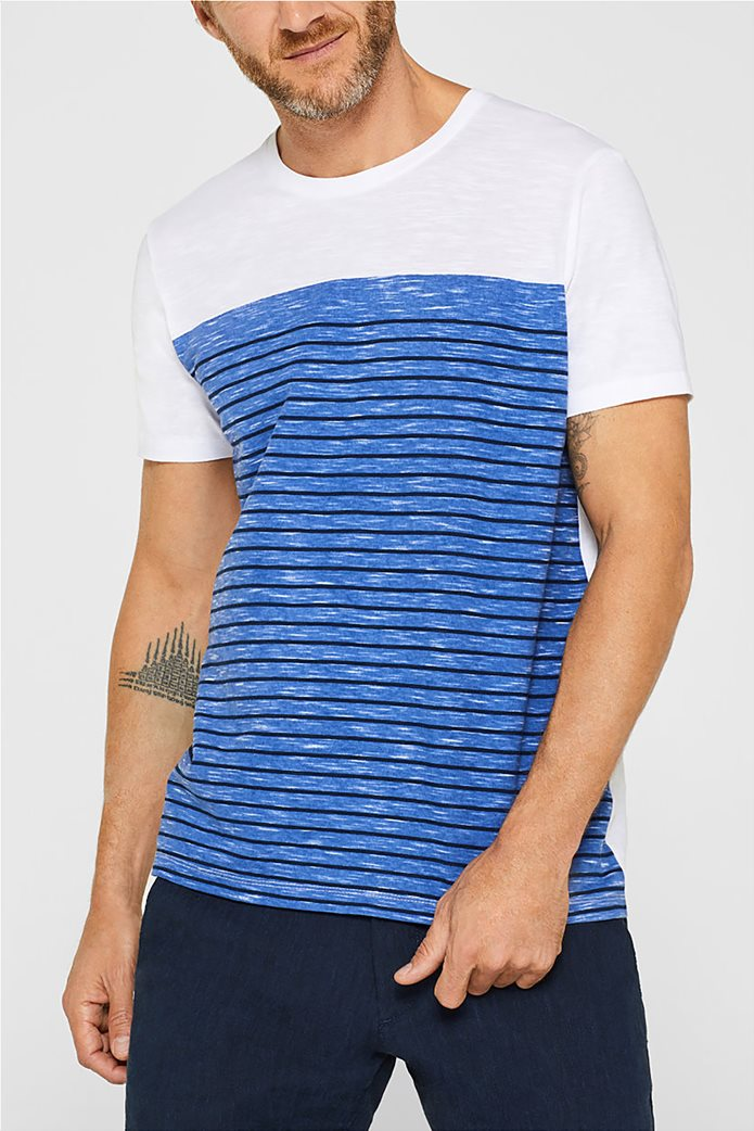 Esprit ανδρικό T-shirt με ριγέ print μπροστά 0