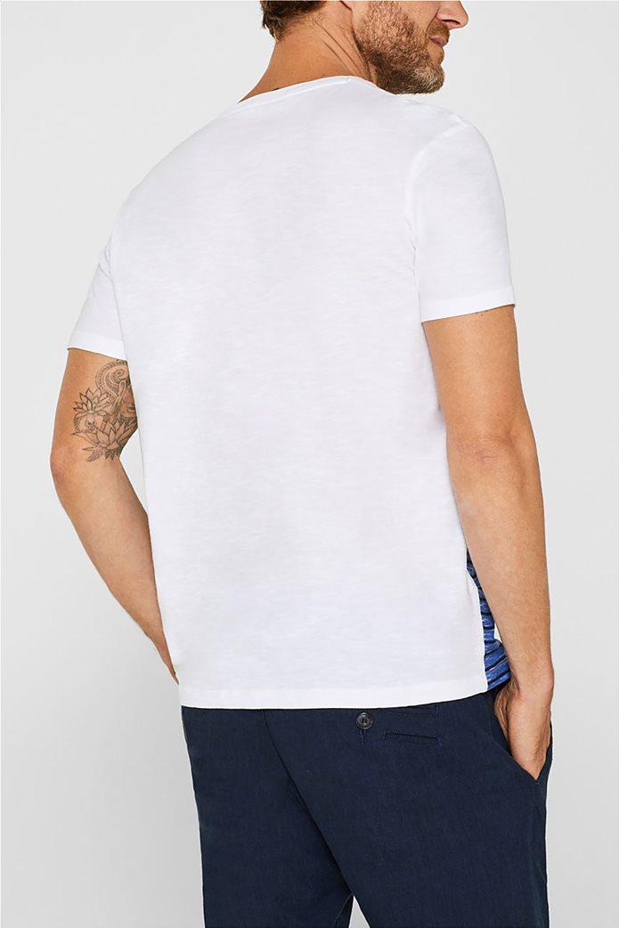 Esprit ανδρικό T-shirt με ριγέ print μπροστά 2