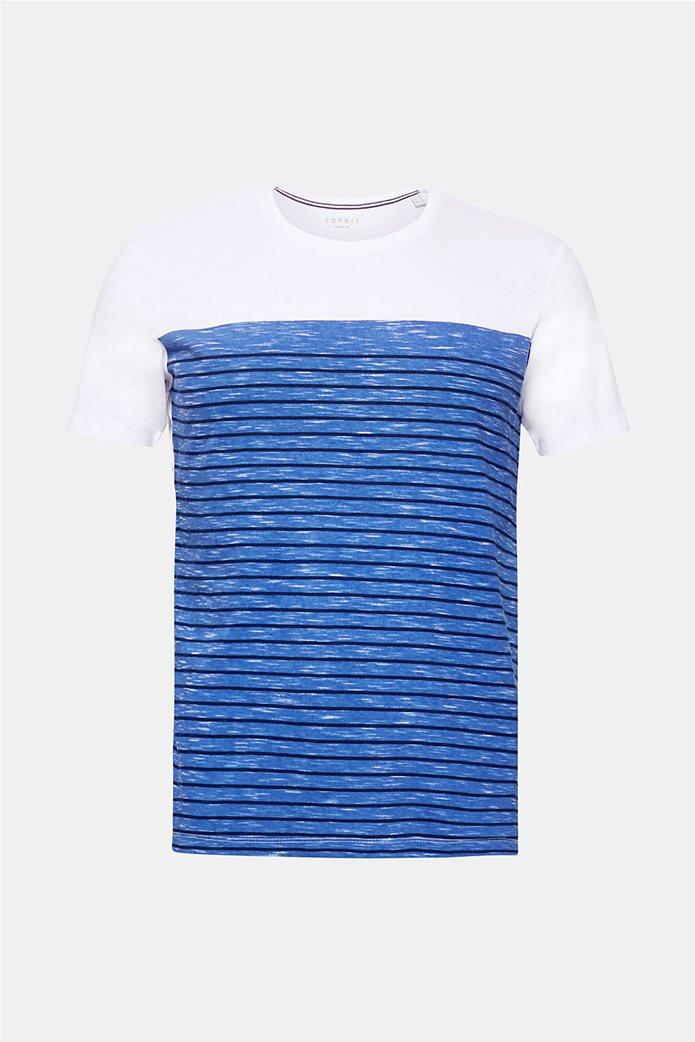 Esprit ανδρικό T-shirt με ριγέ print μπροστά 3