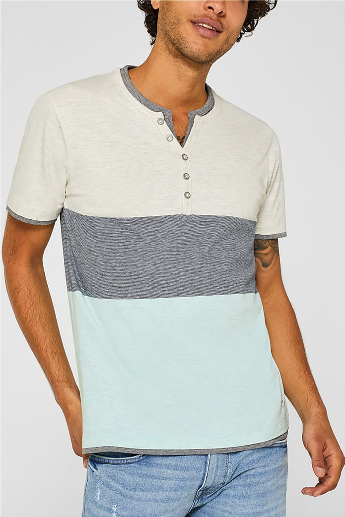 Esprit ανδρικό colourblock T-shirt 0