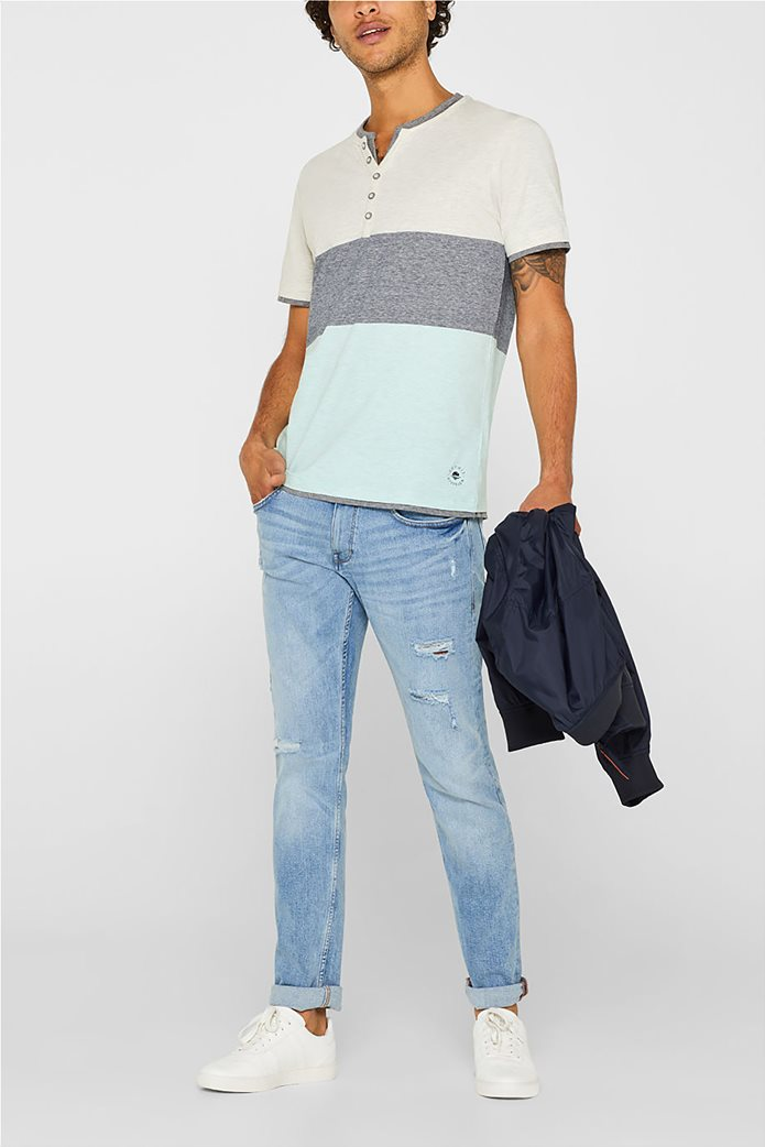 Esprit ανδρικό colourblock T-shirt 1