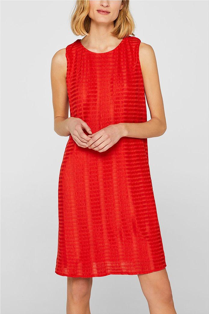 Esprit γυναικείο mini αμάνικο φόρεμα με ρίγα ton sur ton 0