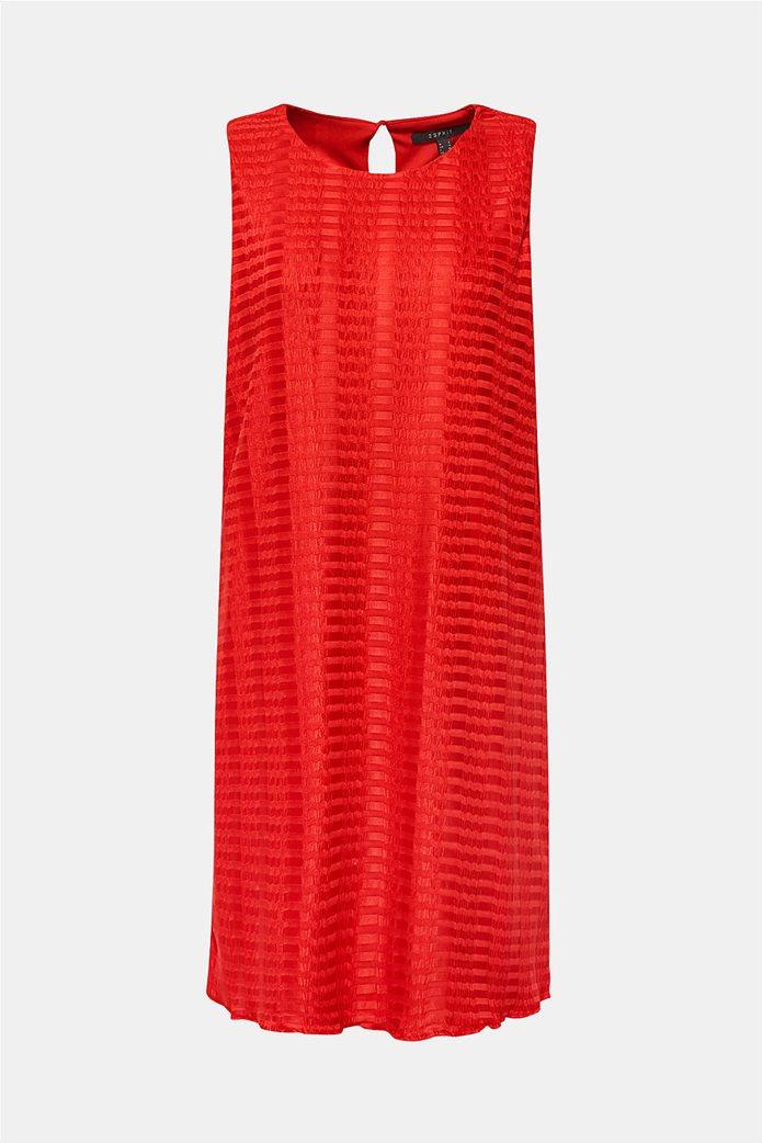 Esprit γυναικείο mini αμάνικο φόρεμα με ρίγα ton sur ton 1