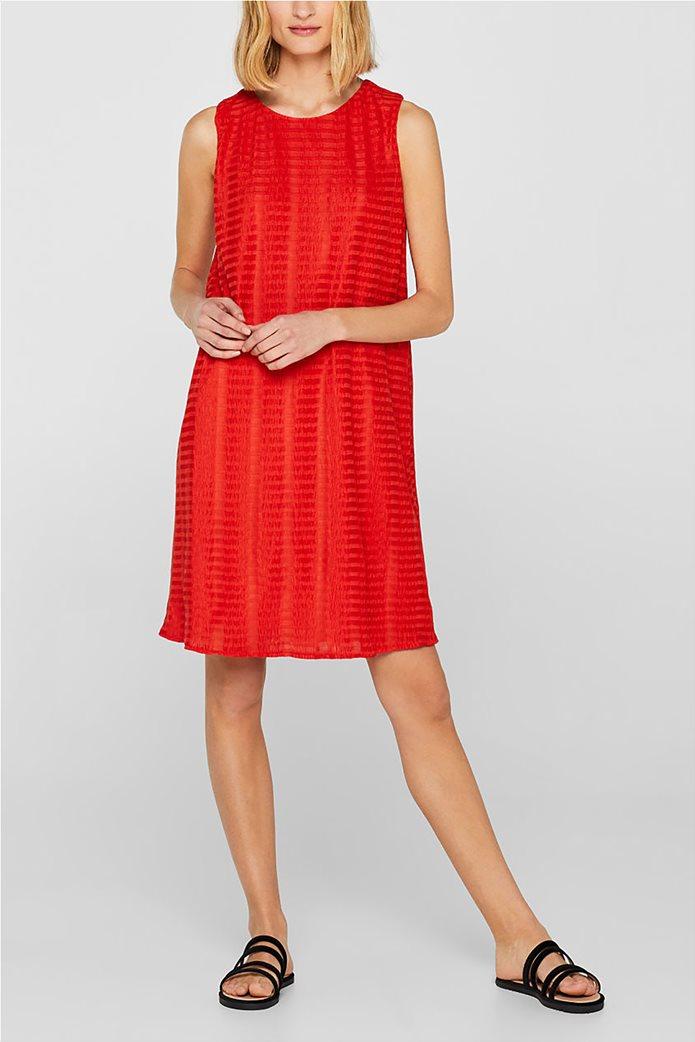 Esprit γυναικείο mini αμάνικο φόρεμα με ρίγα ton sur ton 2