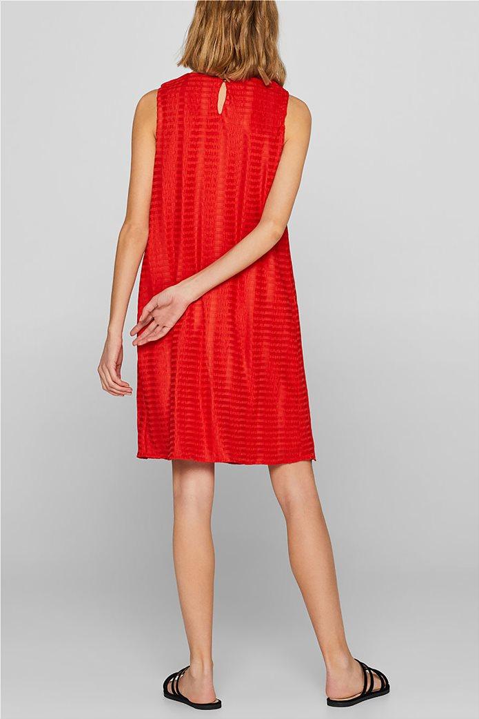 Esprit γυναικείο mini αμάνικο φόρεμα με ρίγα ton sur ton 3