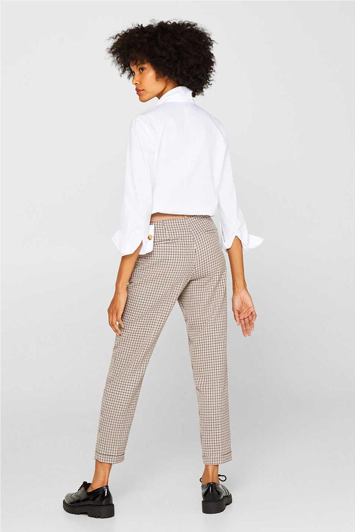 Esprit γυναικείο καρό παντελόνι cigarette 1