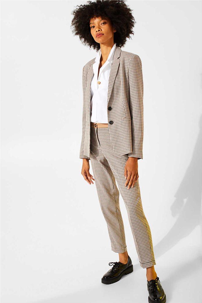 Esprit γυναικείο καρό παντελόνι cigarette 3
