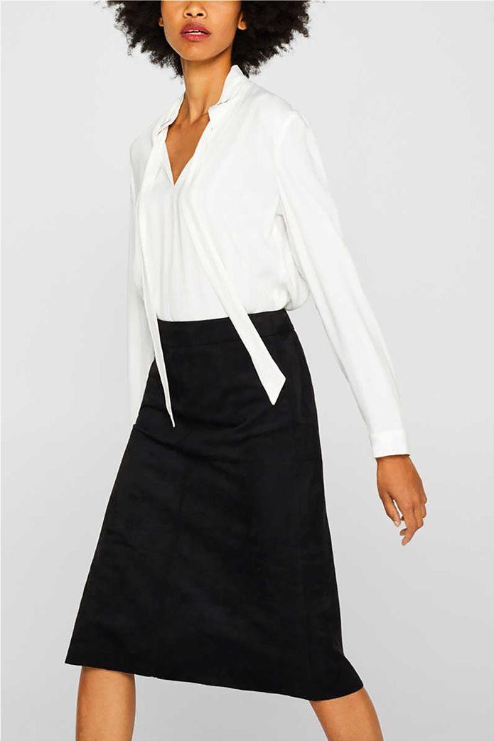 Esprit γυναικεία φούστα midi suede A γραμμή 0