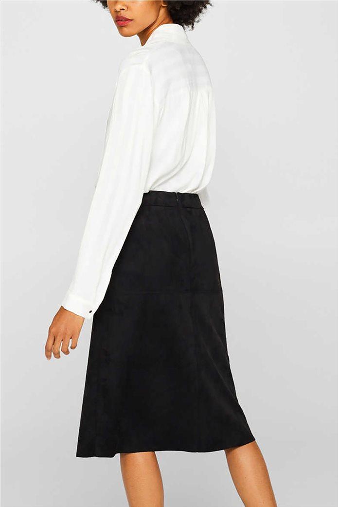 Esprit γυναικεία φούστα midi suede A γραμμή 1