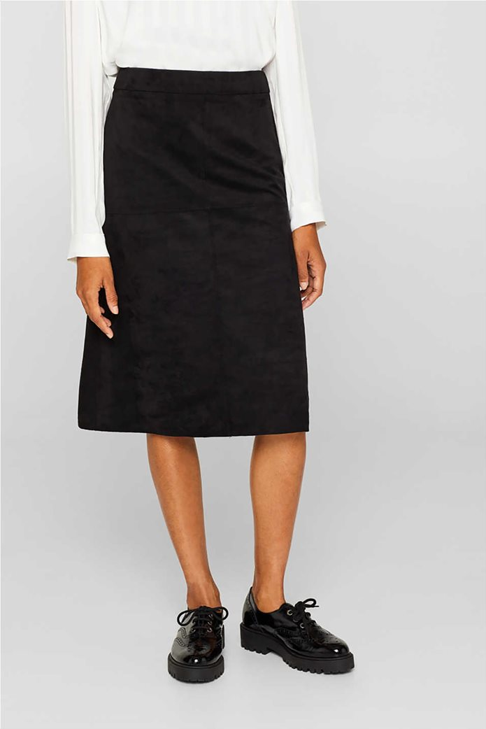 Esprit γυναικεία φούστα midi suede A γραμμή 2