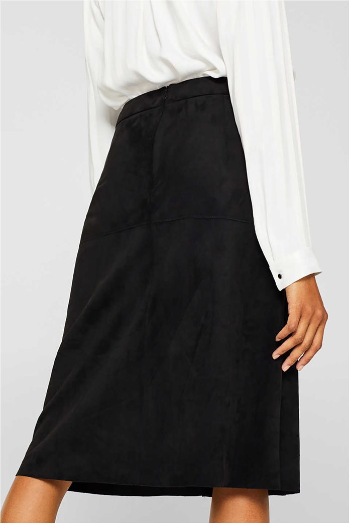 Esprit γυναικεία φούστα midi suede A γραμμή 6