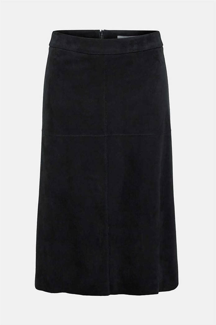 Esprit γυναικεία φούστα midi suede A γραμμή 7