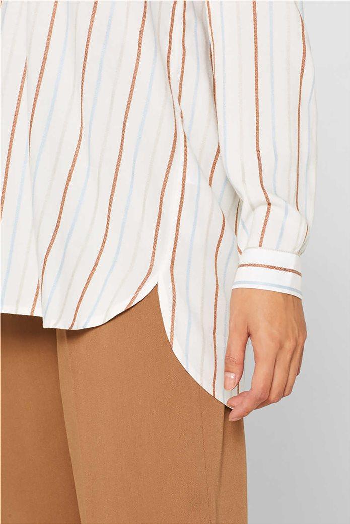 Esprit γυναικεία ριγέ μπλούζα με κουμπιά 4