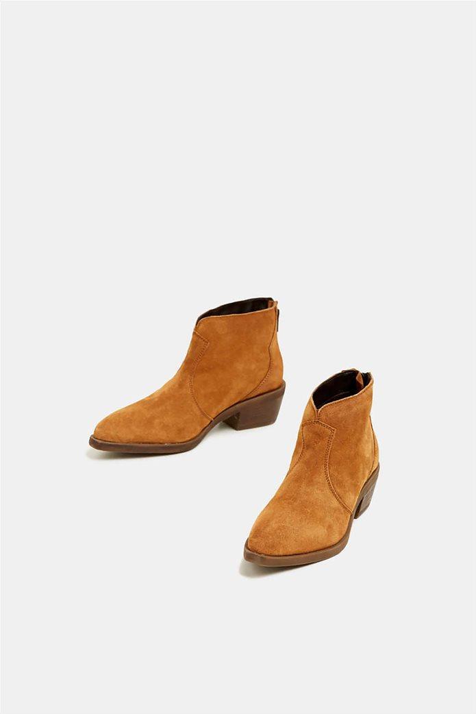 Εsprit γυναικεία suede μποτάκια Cowboy style 1